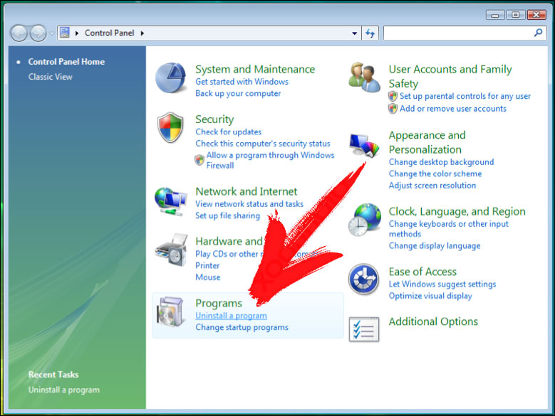 win7-control-panel Total Access Network